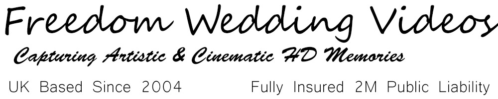 Wedding Videos - High Quality Premium 4k Films - UK Based Fully Insured - End to End Service from Filming to Delivery with over 200 Weddings Filmed since 2004. Providing Artistic, Cinematic Memories -